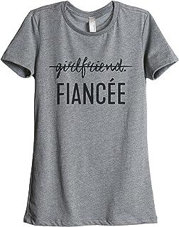 Thread Tank Girlfriend Fiancee Women's Fashion Relaxed T-Shirt Tee Heather Grey