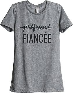 Girlfriend Fiancee Women's Fashion Relaxed T-Shirt Tee Heather Grey