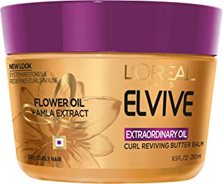 L'Oréal Paris Elvive Extraordinary Oil Curl Reviving Butter Balm, 8.5 fl. oz. (Packaging May Vary)