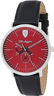 Ferrari Mens Quartz Watch, Chronograph Display and Leather Strap 830567