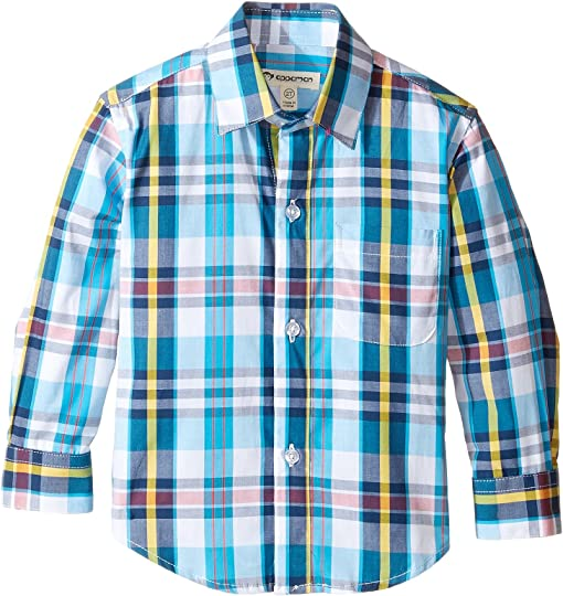Turquoise/Yellow Plaid