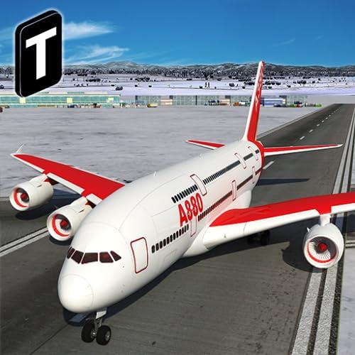 『Snow Cargo Jet Landing 3D』のトップ画像