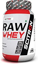Scitron Raw Whey (100% Whey Protein Concentrate, 24g Protein, 0g Sugar, 33 Servings, Essential & Non-Essential Amino Acids...