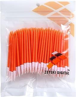Zetek Spiral 100pcs Foam Tip Cleaning Swabs Sponge Stick for Inkjet Printer, Printhead, Camera, Cleanroom, Optical Lens, Gun, Automotive Detailing, Optical Equipment … …