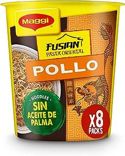 MAGGI Fusian Pasta Oriental Noodles Sabor Pollo - Fideos Orientales - Paquete de 8 x 62 g - Total: 496 gr