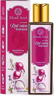 Khadi Soul Red Onion Shampoo|Promotes Hair Growth|Reduce Dandruff|Anti Hair Fall, 200 ml
