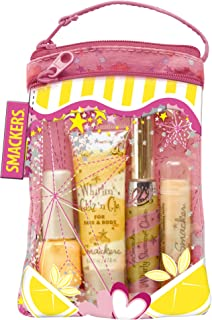 Smackers Pink Lemonade Glam Bag Makeup Set (Lip Balm, Lip Gloss, Nail Polish, & Lotion), 1 Set