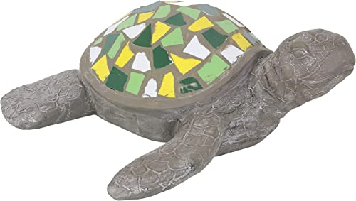 new arrival Sunnydaze Simon The Swift Polystone Mosaic Sea Turtle Statue - Patio, Yard, Pool, and new arrival Garden Decor - Concrete lowest Sculpture with Mosaic Shell - Indoor/Outdoor Figurine - 17-Inch outlet sale