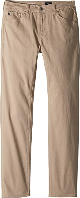 AG Adriano Goldschmied Kids - The Stryker Luxe Slim Straight Sueded Twill in Beach Nut (Big Kids)