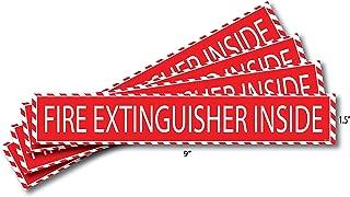 Fire Extinguisher Inside Sticker (4 Pack) 1.5