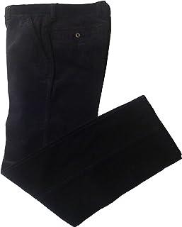 RE/&X Pantaloni Jeans da Uomo Lungo E Leggero Colore Nero Blu Vita Alta Comodo
