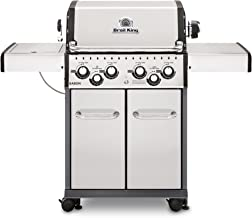 Broil King 922587 Baron S490 Gas Grill, 4-Burner, Stainless Steel