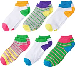 Jefferies Socks - Multi Stripe Low Cut Socks 6-Pair Pack (Toddler/Little Kid/Big Kid)