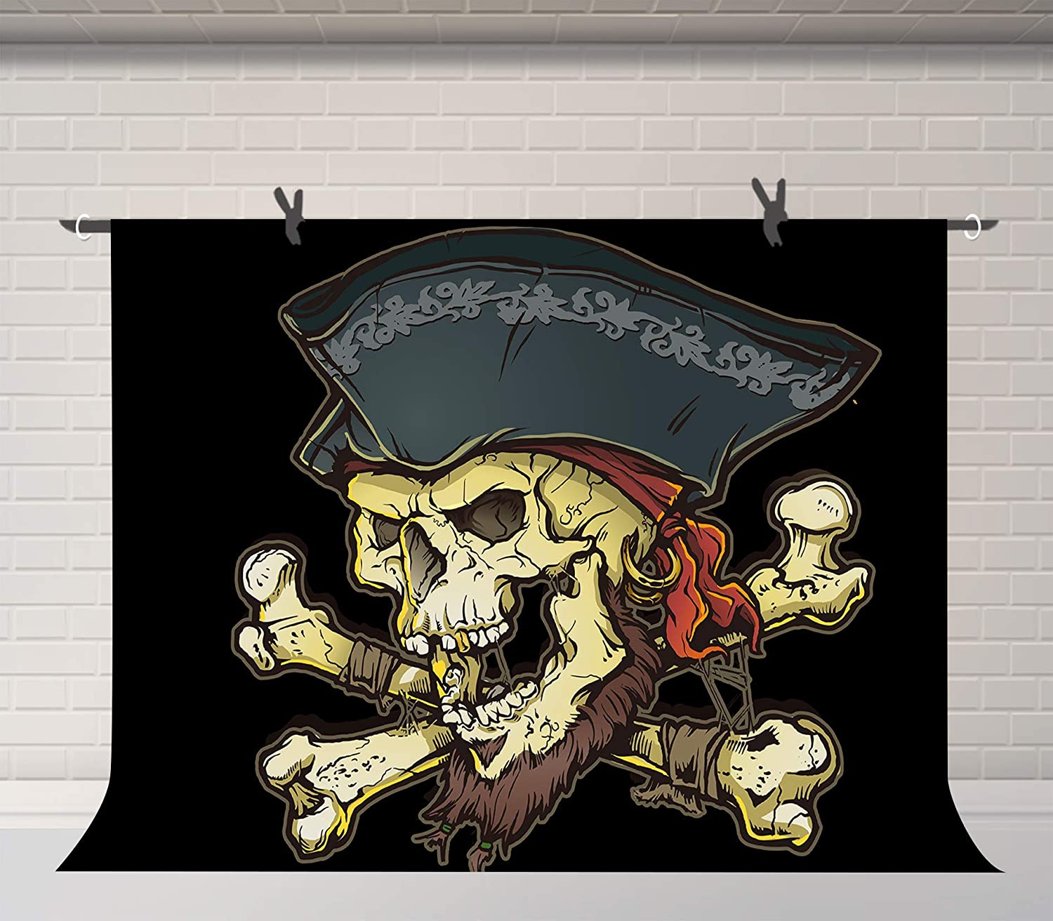 15x10ft Background Pirate Skull Photography Backdrop Photo Props WQFU078