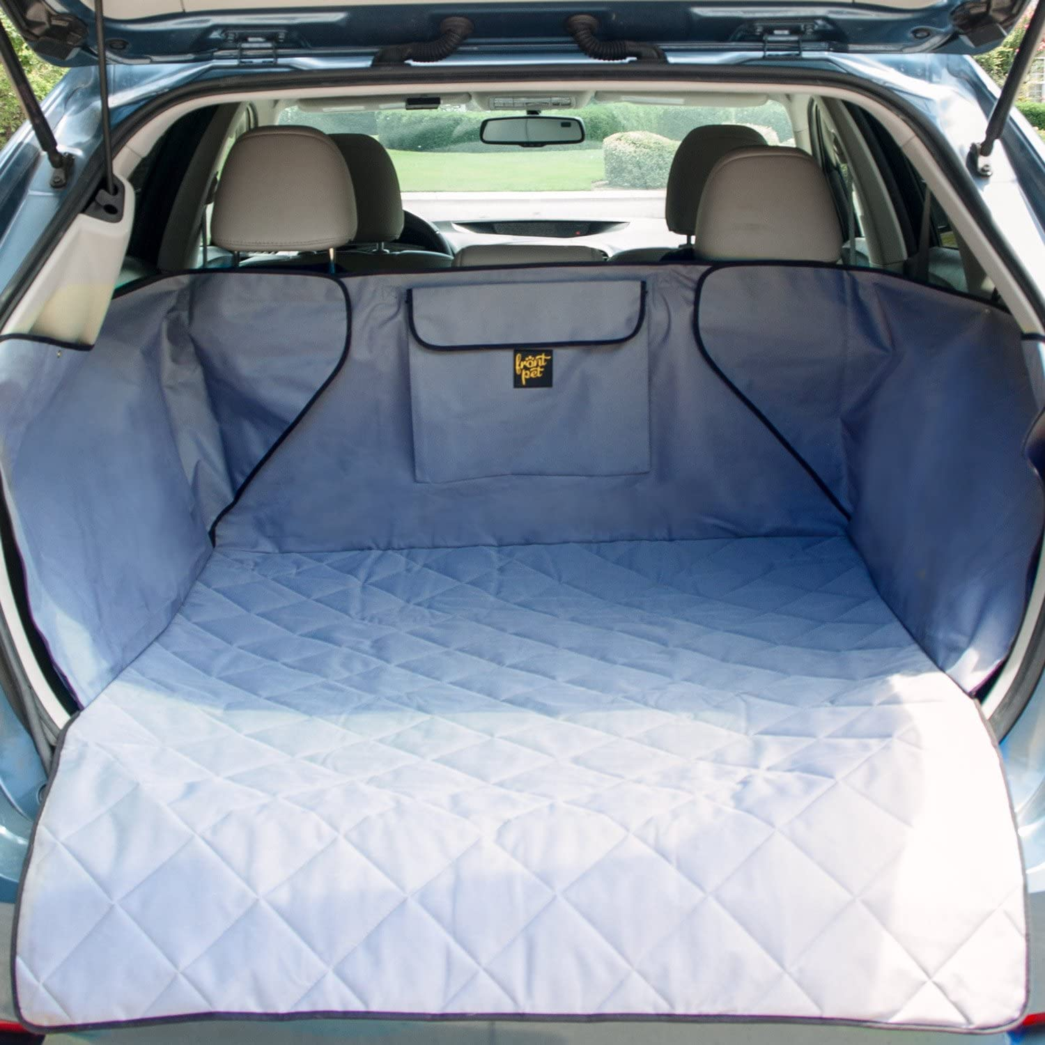FrontPet Quilted Dog Cargo Cover for SUV, Universal Fit for Any Pet Animal. Durable Liner Covers and Predects Your Vehicle, Regular, Large and Extra Large