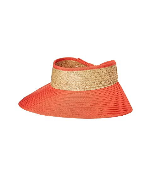 aacaaae2457 San Diego Hat Company RBV001OS Ribbon Visor w  Adjustable Raffia Bow ...