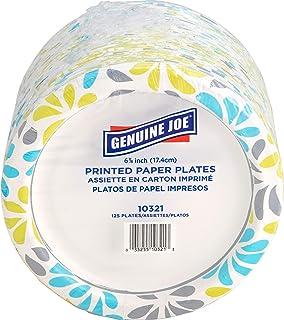 "Genuine Joe 10321 Paper Plates, 6 7/8"" (pack of 125 plates)"