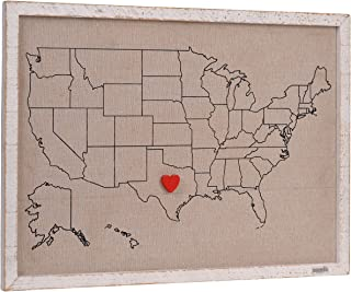 NIKKY HOME Magnetic USA Map Bulletin Board Message Signs