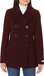 Calvin Klein Womens Double Breasted Peacoat