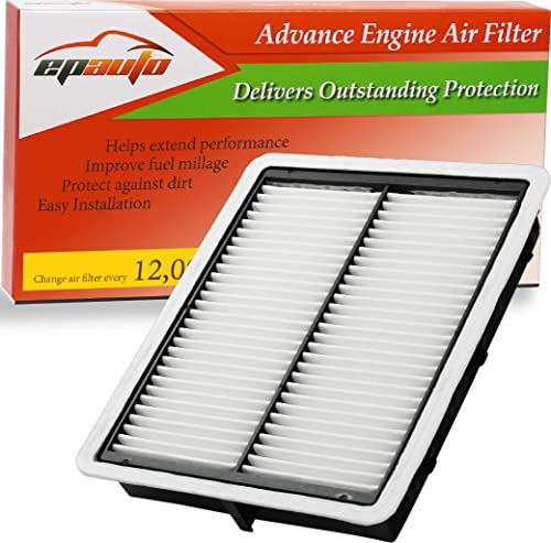 wholesale EPAuto GP942 (CA11942) Replacement for Hyundai Extra Guard Panel new arrival Air Filter outlet sale for Sonata 2.0L Hybrid (2016-2019), Sonata 2.4L Gas (2015-2019), Optima 2.0L Hybrid (2017-2020), Optima 2.4L Gas (2016-2020) outlet online sale