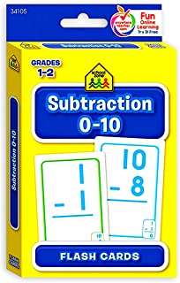 School Zone Subtraction 0-10 Flash Cards for Math