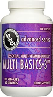 Advanced Orthomolecular Research AOR Multi Basics 3 Capsules, 180 Count