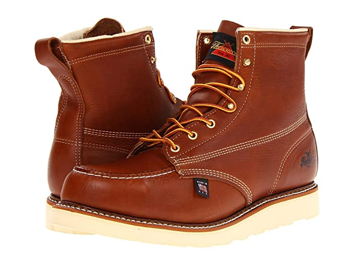 Thorogood  6 Safety Moc Toe (Tobacco) Mens Work Boots