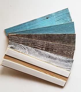 Vinta Wood Reclaimed Barnwood Wall Planks - Simple Peel and Stick Barn Wood (Coastal Collection Sample Pack)