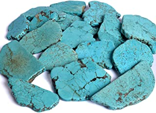 gemhub Natural Blue Turquoise Approx 300-400 Ct. Arizona Blue Turquoise Raw Rough, Crystal Healing Blue Turquoise, Turquoise Loose Gemstone Per Piece