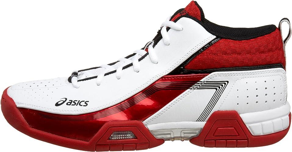 Amazon.com | ASICS Men's GEL-Crossover Basketball Shoe,White/Red ...