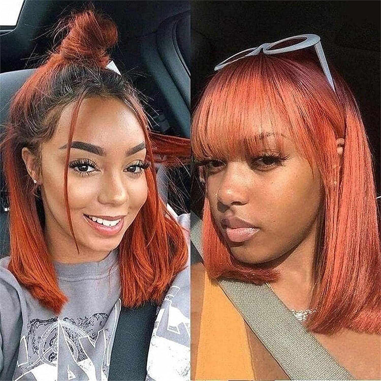 Bargain sale Hair Styling Wigs Replacement Award-winning store Wig Orange La BOB Short