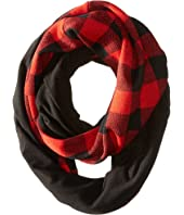Plush - Fleece - Lined Plaid Infinity Scarf