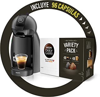 Krups KP100B Cafetera Dolce Gusto cápsulas, 15 bares presión, cafés, cappuccino, 1500 W, 0.6 litros + Nescafé DOLCE GUSTO ...
