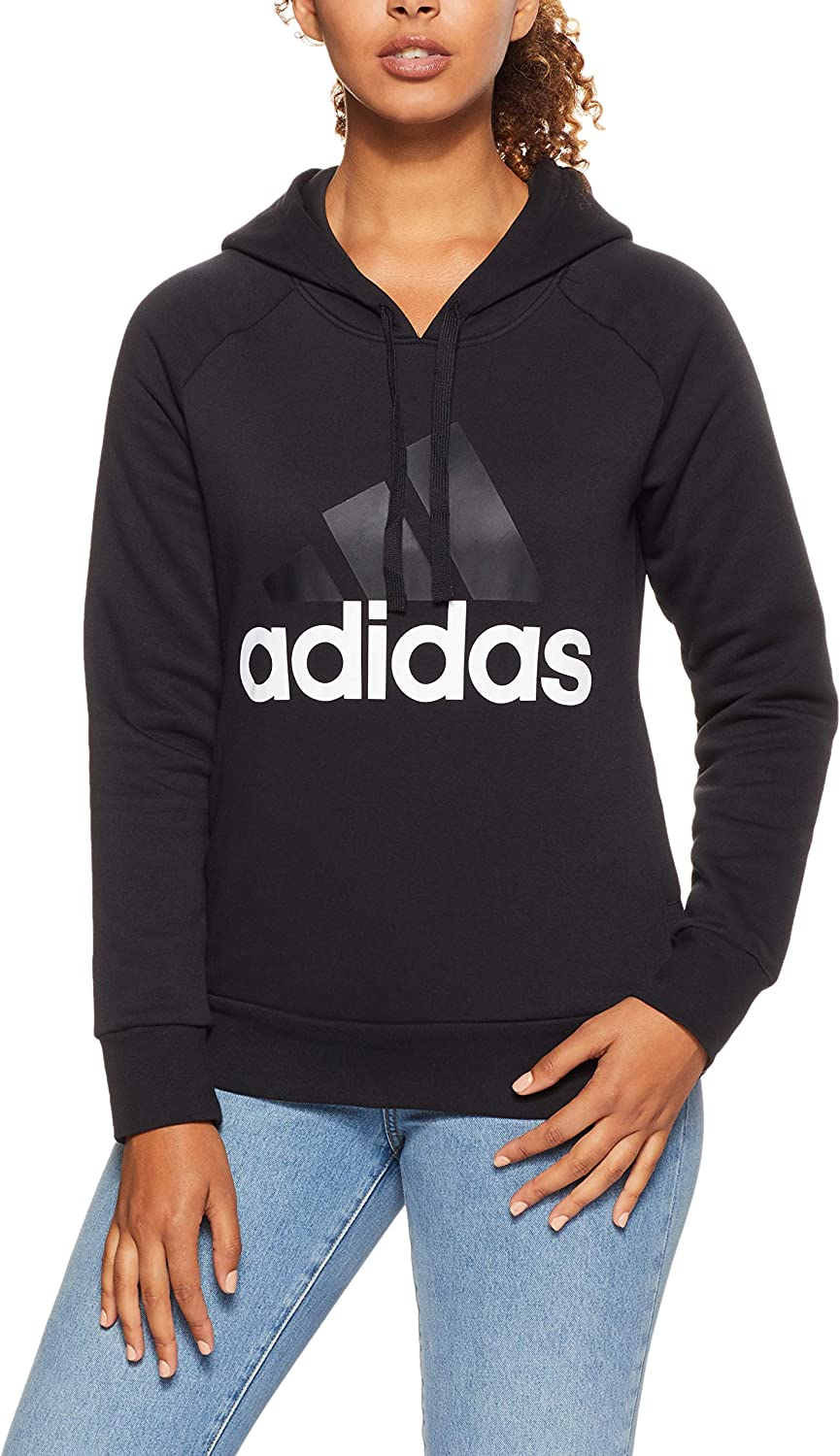 Adidas Damen Essentials Linear Open Hem Fleece-bk7060 Kapuzen-Sweatshirt