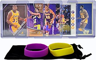 Magic Johnson Basketball Cards Earvin Johnson Assorted (5) Bundle - Los Angeles Lakers Trading Card Gift Pack