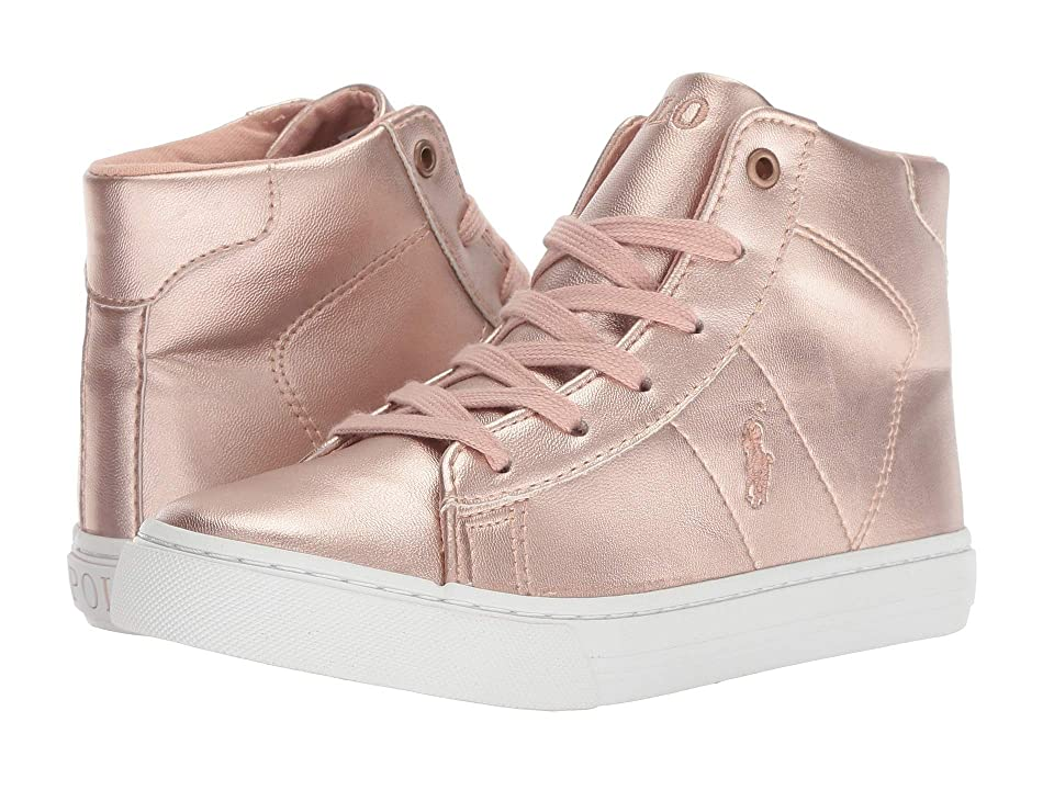 Polo Ralph Lauren Kids Easten Mid (Little Kid) (Pink Metallic) Girl
