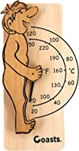 ALEKO WJ05 Fahrenheit and Celsius Thermometer for Sauna Handcrafted from Finnish Pine