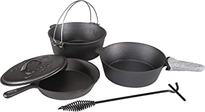 Stansport Cast Iron Cookware Set - Car Camping Cookware Set