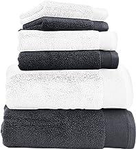 Luxury 100% Cotton Bath Towels - 6 Piece Set, Extra Soft & Fluffy, Quick Dry & Super Absorbent, No Lint, Hotel Bath Towel ...