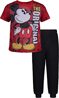 Mickey Mouse Boys' Mesh T-Shirt & French Terry Pants Clothing Set