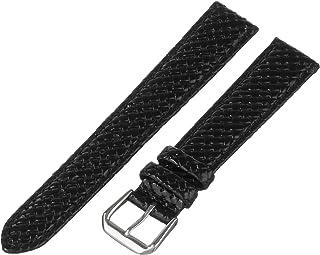 Hadley-Roma Men`s MSM843RA-180 18-mm Black Genuine Leather Watch Strap