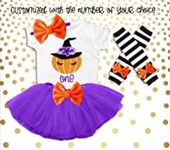 Baby Girl's 1st Birthday Outfit Halloween Birthday Outfit Pumpkin Birthday Outfit Fall Birthday Outfit Pumpkin Patch Party Outfit