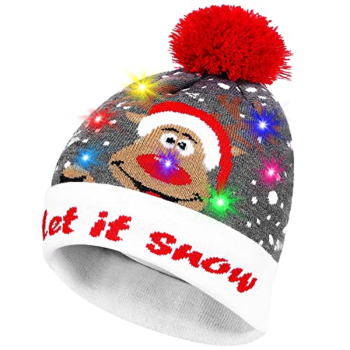 558194d9a4e PUMICE LED Light Up Beanie Colorful LEDs Hat Women Children Indoor Outdoor