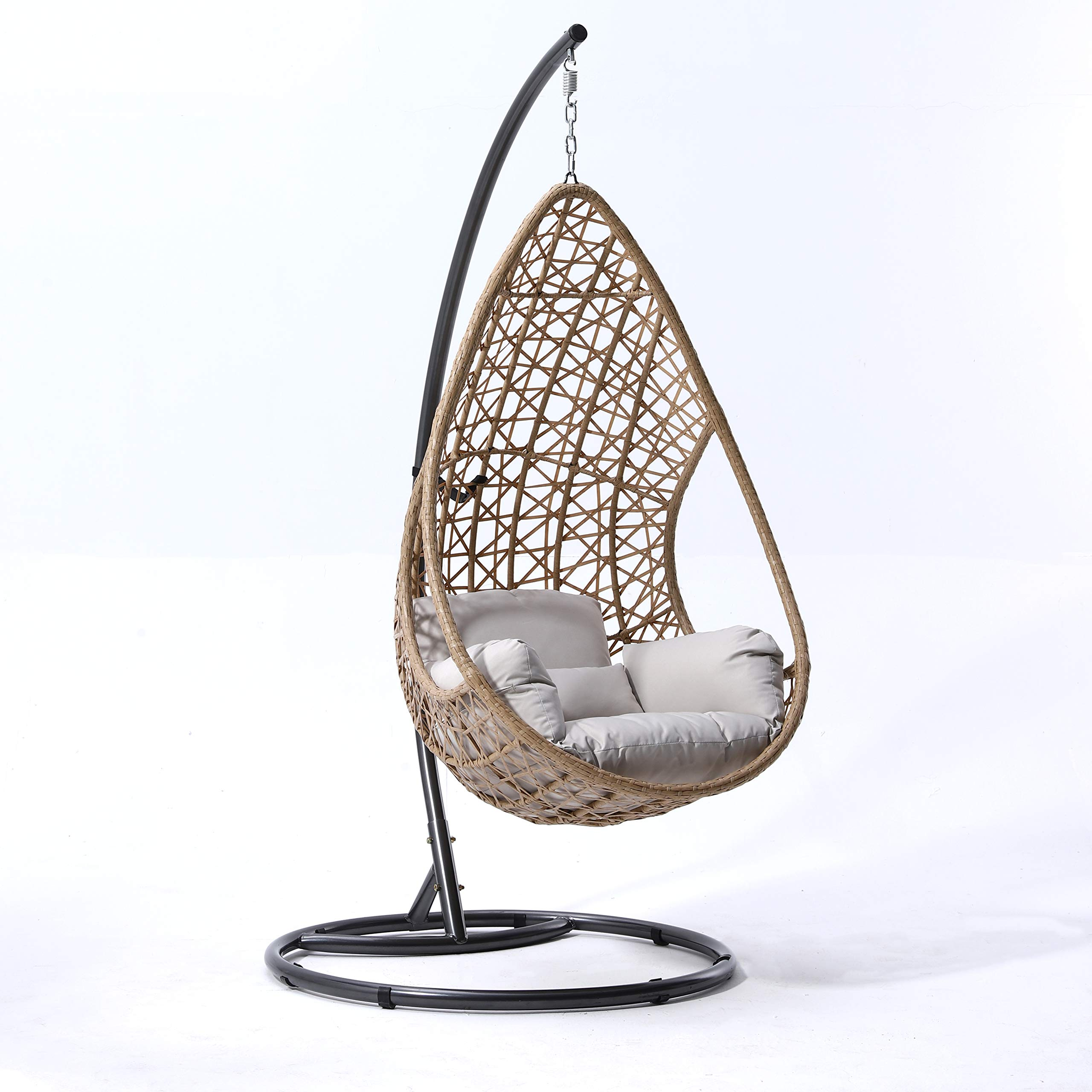 Cherry Tree Furniture Indra Rattan Effect Swing Chair, Hanging Egg Chair