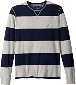 Long Sleeve Rugby Stripe Sweater