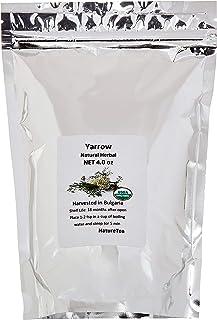 Organic Yarrow Flower - Achillea millefolium Loose Leaf & Flower C/S from 100% Nature (04 oz)