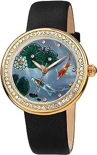 Burgi Womens Quartz Watch, Analog Display and Leather Strap BUR188BK