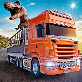 Wild Dino Transport Truck Simulator 3D: Animal Transporter Cargo Racing Parking Driving Adventure Games Free For Kids