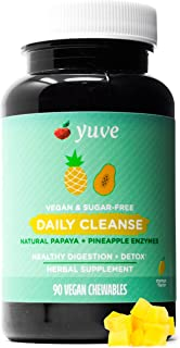 Yuve All Natural Papaya Chewable Digestive Enzymes - Sugar-Free Tablets - Boosts Digestive System - Constipation & Bloatin...