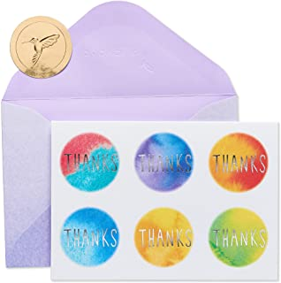 Papyrus Boxed Thank You Cards with Envelopes, Tie-Dye Dots (14-Count) (5740584)